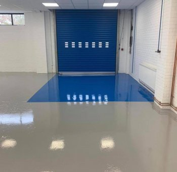 Flow Applied Expoxy Flooring