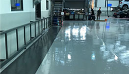 Vehicle showroom flooring London