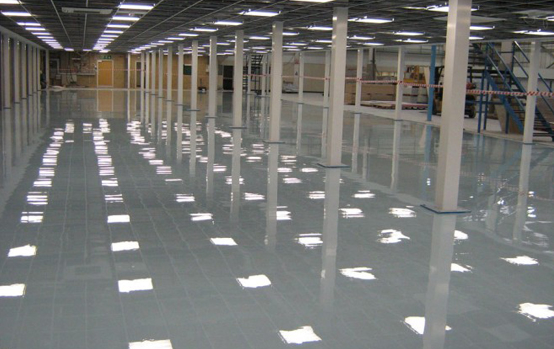 Epoxy flooring contractor Hampshire